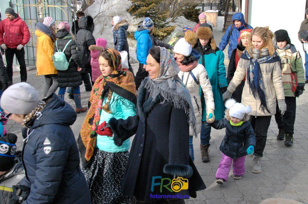 Празднование масленицы в парке Царицыно